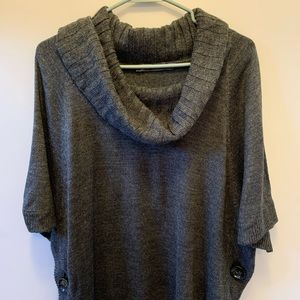 Poncho style cowl neck sweater by Outback Red.